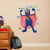 Fathead Sesame Street Super Grover Jr Wall Graphic