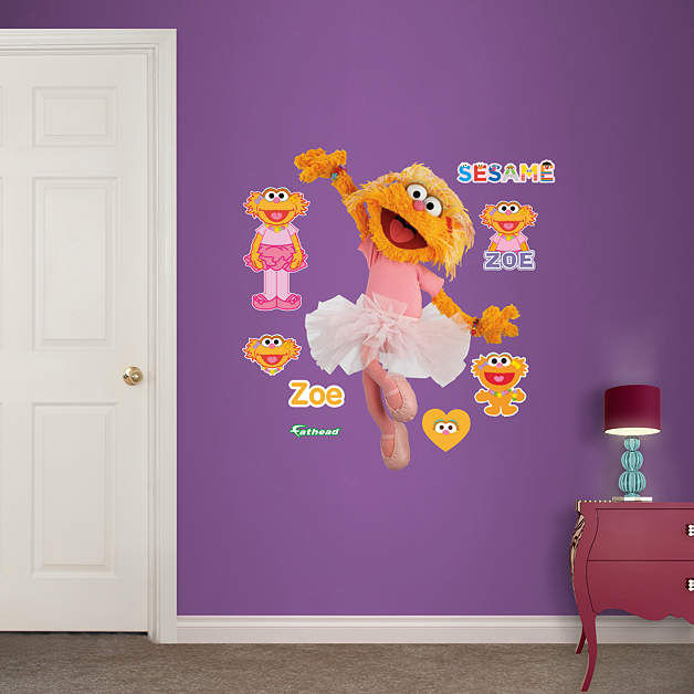 Fathead Sesame Street Zoe Jr Wall Graphic - Wall Sticker Outlet