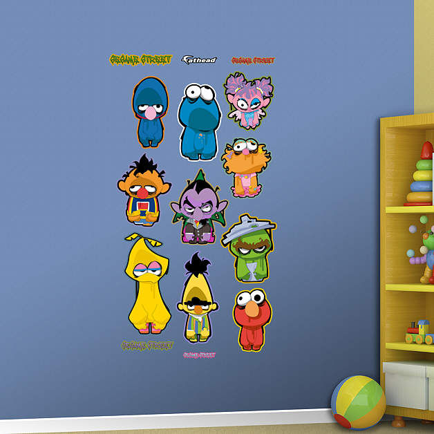 Fathead Sesame Street Zombie Collection Decals - Wall Sticker Outlet