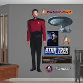Star Trek Commander William T Riker Wall Graphic