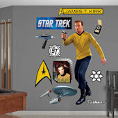 Star Trek Captain James T Kirk Wall Graphic