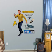 Star Trek Captain James T Kirk Jr Wall Graphic