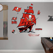Fathead TB Buccaneers Pirate Ship Wall Graphic