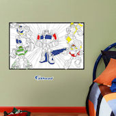 Fathead Dry Erase Transformers Color Sheet Decal