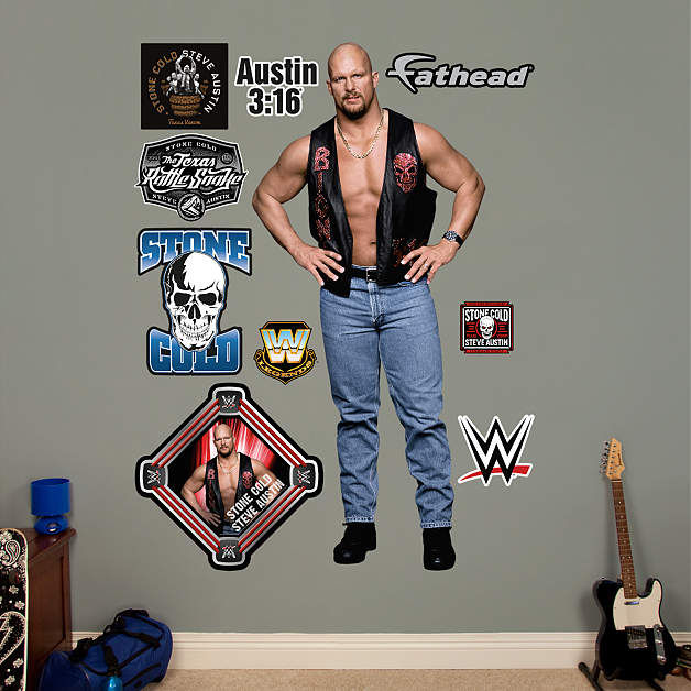 fathead wwe stone cold steve austin wall graphic wwe title belts collection wall decal shop fathead 174 for