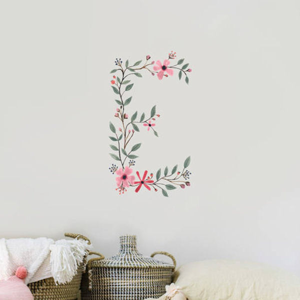 Urbanwalls Floral Letters Wall Decal - Wall Sticker Outlet