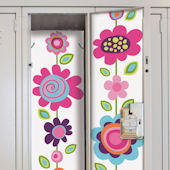Flower Stripe Locker Wall Decals