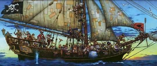 Forty Thieves Pirate Mural