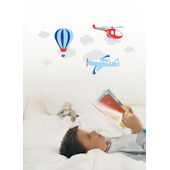 Air Transport  Peel and Stick  Wall Stickers