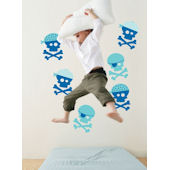 Blue Pirates  Peel and Stick  Wall Stickers SALE