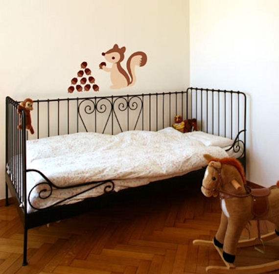 Brown Squirrel Peel and Stick  Wall Stickers SALE - Wall Sticker Outlet