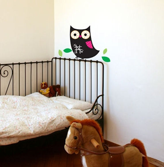 Owl Peel and Stick Chalkboard - Wall Sticker Outlet