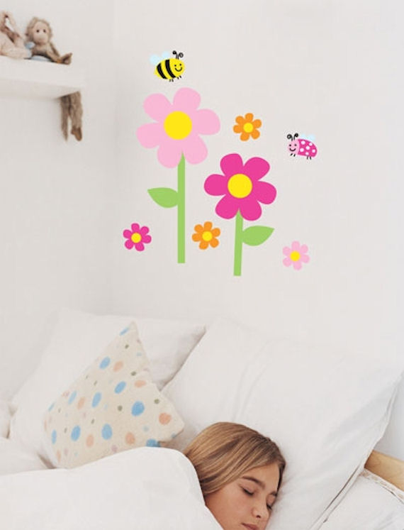 Flower Garden  Peel and Stick Wall Stickers SALE - Wall Sticker Outlet