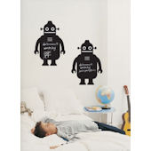 Robot  Peel and Stick Chalkboard SALE