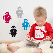 Robots  Peel and Stick  Wall Stickers