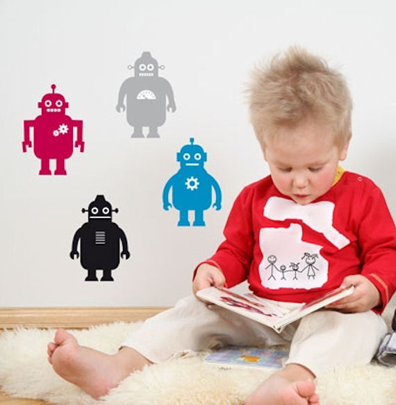 Robots  Peel and Stick  Wall Stickers - Wall Sticker Outlet