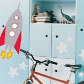 Rocket Peel and Stick  Wall Stickers