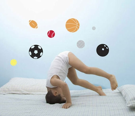 Sports Balls Peel and Stick  Wall Stickers SALE - Wall Sticker Outlet