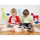 Zoo Animals  Peel and Stick Wall Stickers SALE