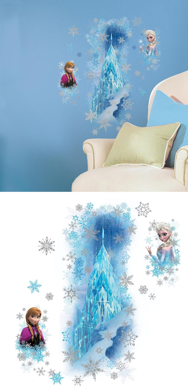 Disney Frozen Ice Palace with Anna and Elsa Decals - Wall Sticker Outlet