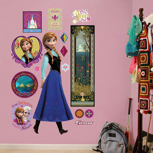 Fathead Frozen Anna Giant Wall Decal - Wall Sticker Outlet