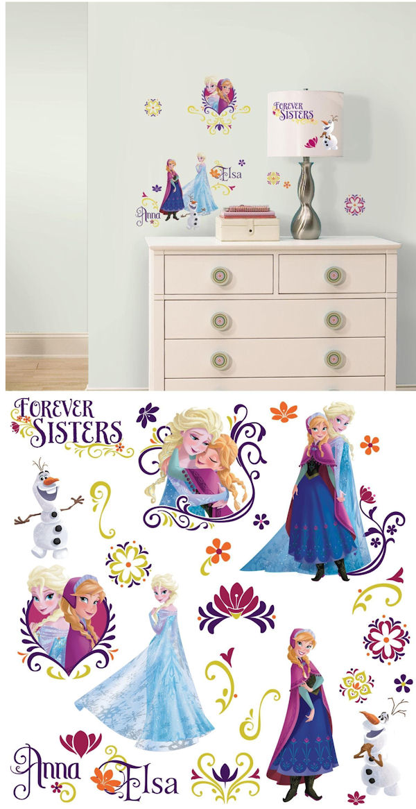 Disney Frozen Spring Peel and Stick Wall Decals - Wall Sticker Outlet