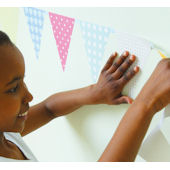 Fun To See Bunting Flags Wall Stickers