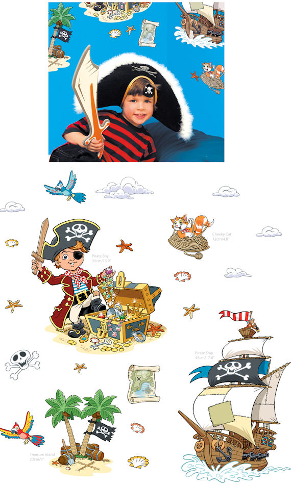 Fun To See Pirate Wall Stickers - Kids Wall Decor Store