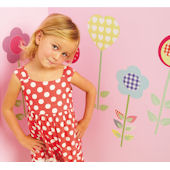 Fun To See Polly Patch Flowers Wall Stickers