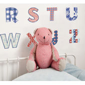 Fun To See Red White Blue Alphabet Wall Stickers