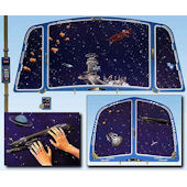 Outer Space Small Create A Wall Mural Kit -