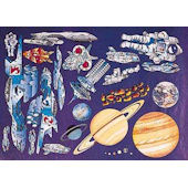 Outer Space Mural Planets