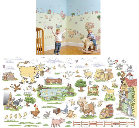 Fun To See Funberry Farms Complete Room Kit   Wall Sticker Outlet Great Ideas