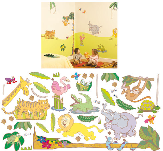 Fun To See Jungle Complete Room Kit   Wall Sticker Outlet
