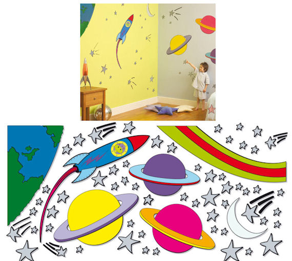 Fun To See Outer Space Complete Room Kit - Wall Sticker Outlet