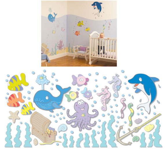 Fun To See Undersea Adventure Complete Room Kit   Wall Sticker Outlet Amazing Ideas
