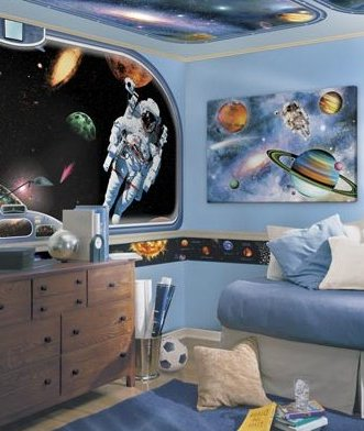 outer space theme boys bedroom space wall decal stickers