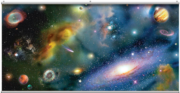 Galaxy Minute Mural - Wall Sticker Outlet