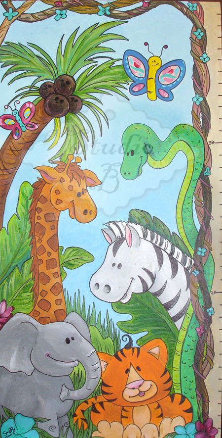 Its a Jungle Out There Growth Chart - Kids Wall Decor Store