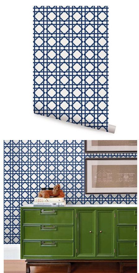 Geometric Blue Peel And Stick Wallpaper