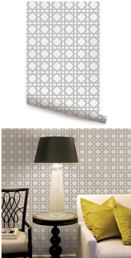 Geometric Gray Peel And Stick Wallpaper