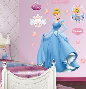 Disney Princess Wall Decor princess theme bedroom - disney princess wall decal stickers