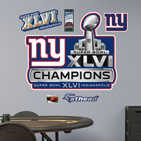 New York Giants Super Bowl XLVI Champions Logo - Kids Wall Decor Store