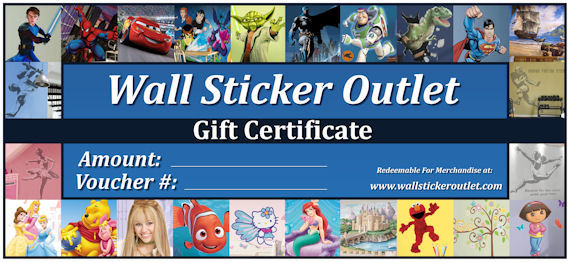 Gift Certificate Redemption - Wall Sticker Outlet