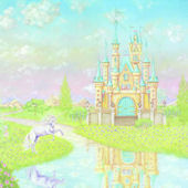 Storybook Castle Prepasted Wall Mural