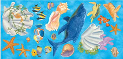 Under The Sea Prepasted Cutouts - Wall Sticker Outlet
