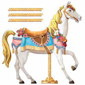 Carousel Horse Prepasted Wall Mural