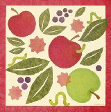 Apples And Inchworms Canvas Wall Art