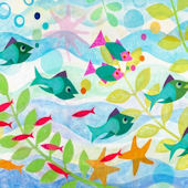 Friendly Fish Wall Canvas Art