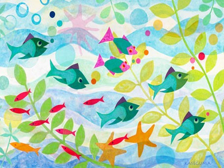 Friendly Fish Canvas Wall Art - Wall Sticker Outlet